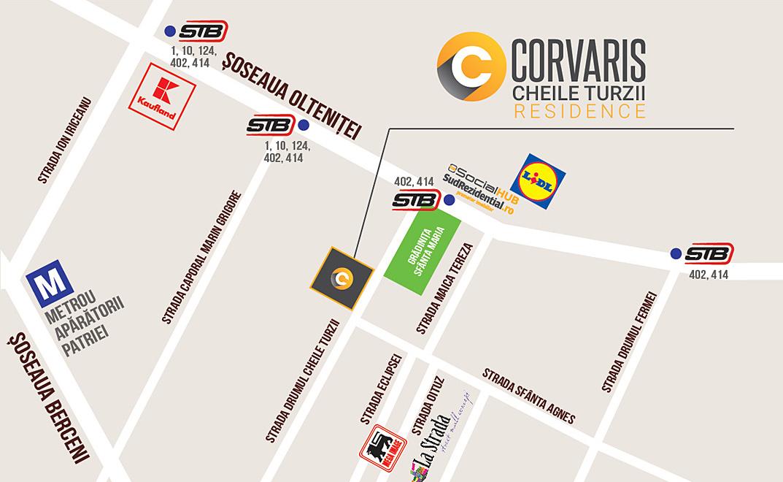 Corvaris Residence Localizare