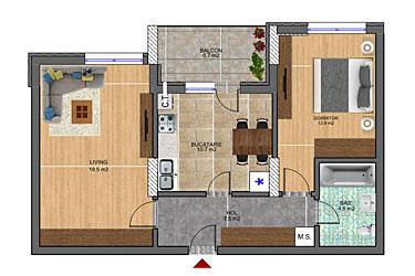 apartamente 2 camere Corvaris